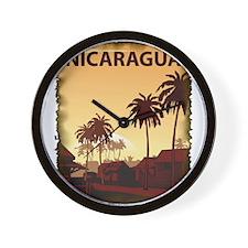 Vintage Nicaragua Wall Clock