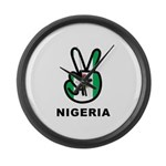 Nigeria Peace Large Wall Clock