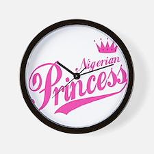 Nigerian Princess Wall Clock