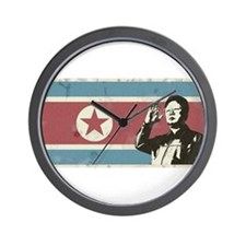 Vintage North Korea Wall Clock