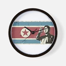 Vintage North Korea Wall Clock