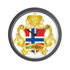Gold Norway Wall Clock