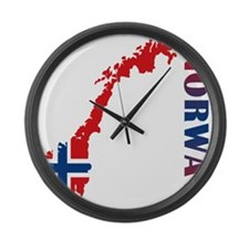 Map Of Norway Large Wall Clock