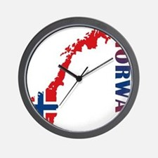 Map Of Norway Wall Clock