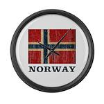 Vintage Norway Large Wall Clock