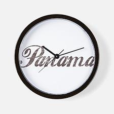 Vintage Panama Wall Clock