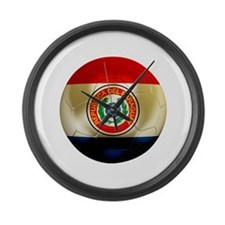 Paraguay Football Large Wall Clock