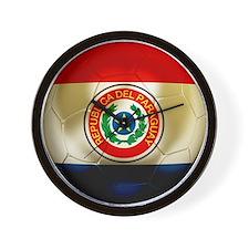 Paraguay Football Wall Clock