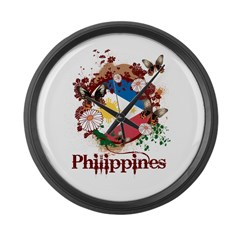 Butterfly Philippines Large Wall Clock