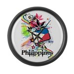 Philippines Large Wall Clock