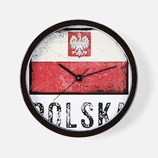 Grunge Polska Wall Clock