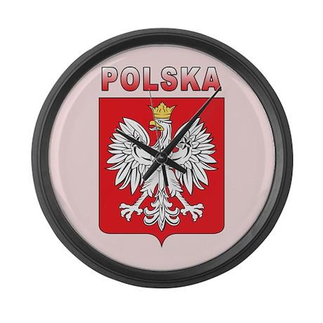 Polska Large Wall Clock