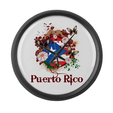Butterfly Puerto Rico Large Wall Clock