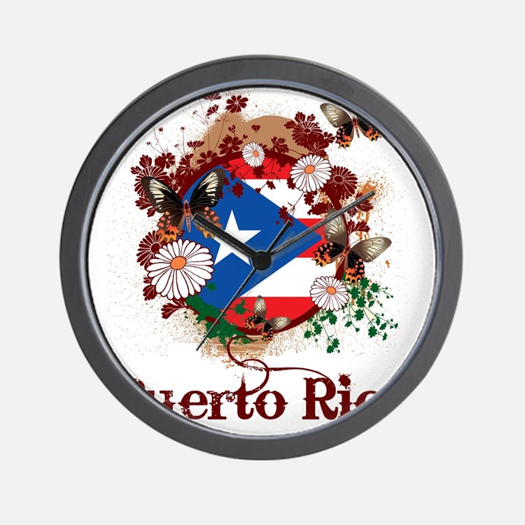 Butterfly Puerto Rico Wall Clock