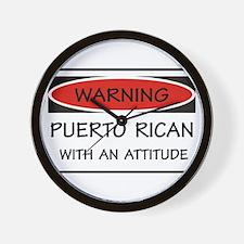Attitude Puerto Rican Wall Clock