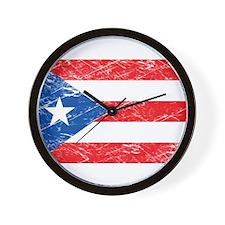 Vintage Puerto Rico Flag Wall Clock