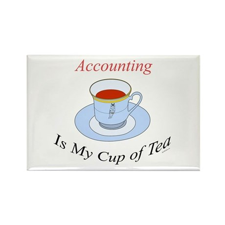 Accounting is my cup of tea Rectangle Magnet