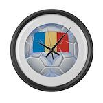 Romania Soccer Large Wall Clock