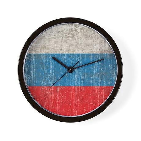 Vintage Russia Flag Wall Clock