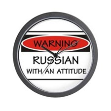 Russian With An Attitude Wall Clock