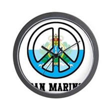 Peace In San Marino Wall Clock