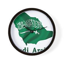 Map Of Saudi Arabia Wall Clock