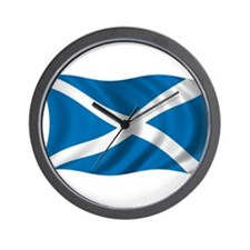 Wavy Scotland Flag Wall Clock