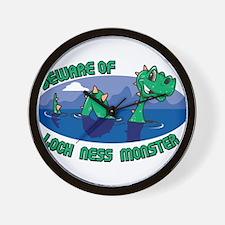 Beware Of Loch Ness Monster Wall Clock