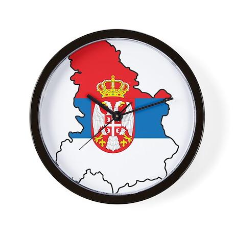 Map Of Serbia Wall Clock