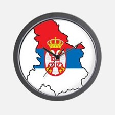 Map Of Serbia Wall Clock