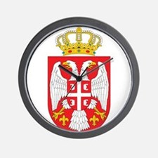 Serbia Coat Of Arms Wall Clock