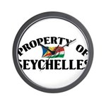 Property Of Seychelles Wall Clock