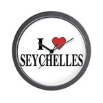 I Love Seychelles Wall Clock