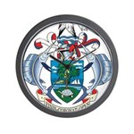 Seychelles Coat Of Arms Wall Clock
