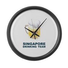 Singapore Drinking Team Large Wall Clock