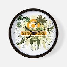 Palm Tree Singapore Wall Clock
