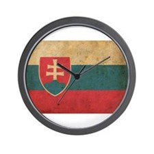 Vintage Slovakia Flag Wall Clock