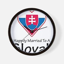 Happily Married Slovak Wall Clock