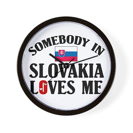 Somebody In Slovakia Wall Clock