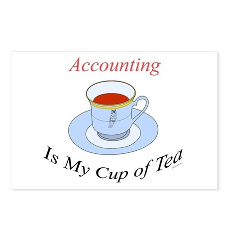 Accounting is my cup of tea Postcards (Package of