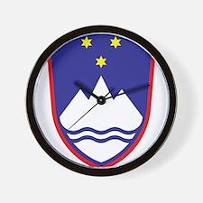Slovenia Coat Of Arms Wall Clock
