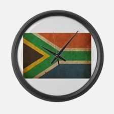 Vintage South Africa Flag Large Wall Clock