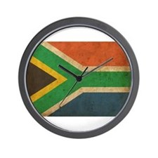 Vintage South Africa Flag Wall Clock