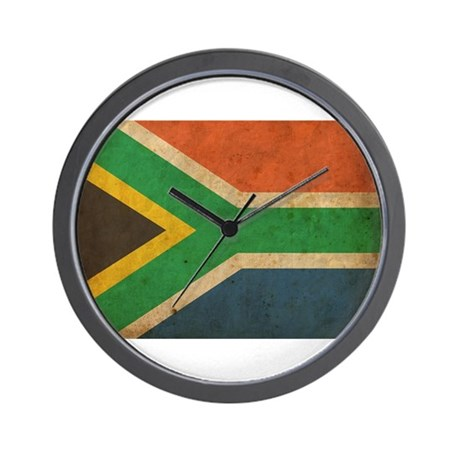 Vintage south africa flag wall clock by oneworldgear for Modern wall clocks south africa