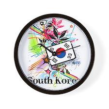 Flower South Korea Wall Clock