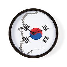 3D South Korea Wall Clock