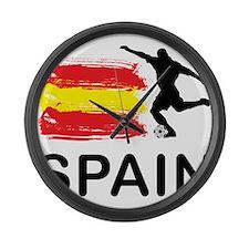 Spain Football Large Wall Clock