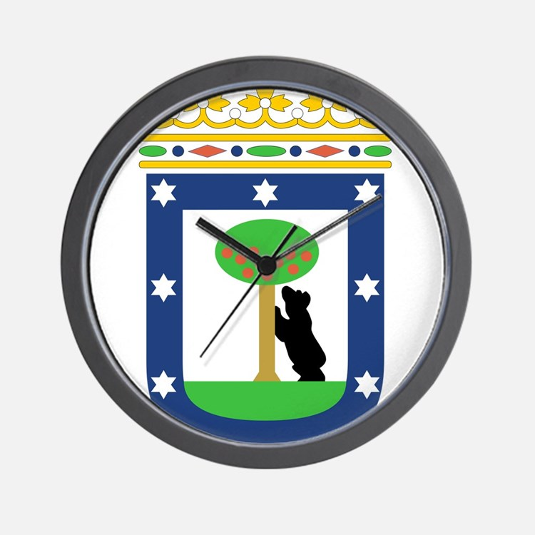 Madrid Coat Of Arms Wall Clock