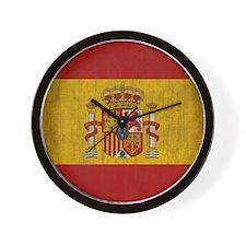 Vintage Spain Flag Wall Clock