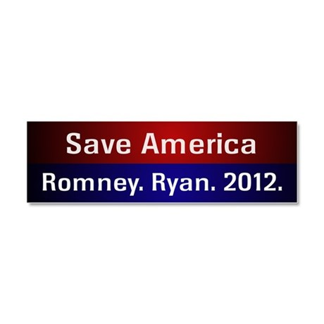 Romney Ryan 2012 Car Magnet 10 x 3